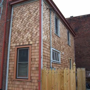 Wooden shingles and fence