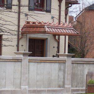 fence outside house
