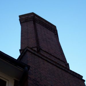 Tall brick chimney