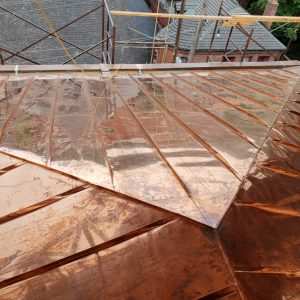Copper peaked roof